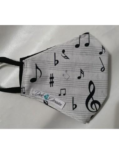 Mascarilla Notas Musicales