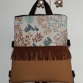 Nueva!! Bolso mochila, cómprala y tendrás mochila y varios bolsos. Que te parece?? Si me comentas me ayudarás a saber si te gusta este modelo o no. Gracias #diseñopropio #costuracreativa👓✏✂️✂️✔ #productolocal #nuevosproyectos2021 #dekorain